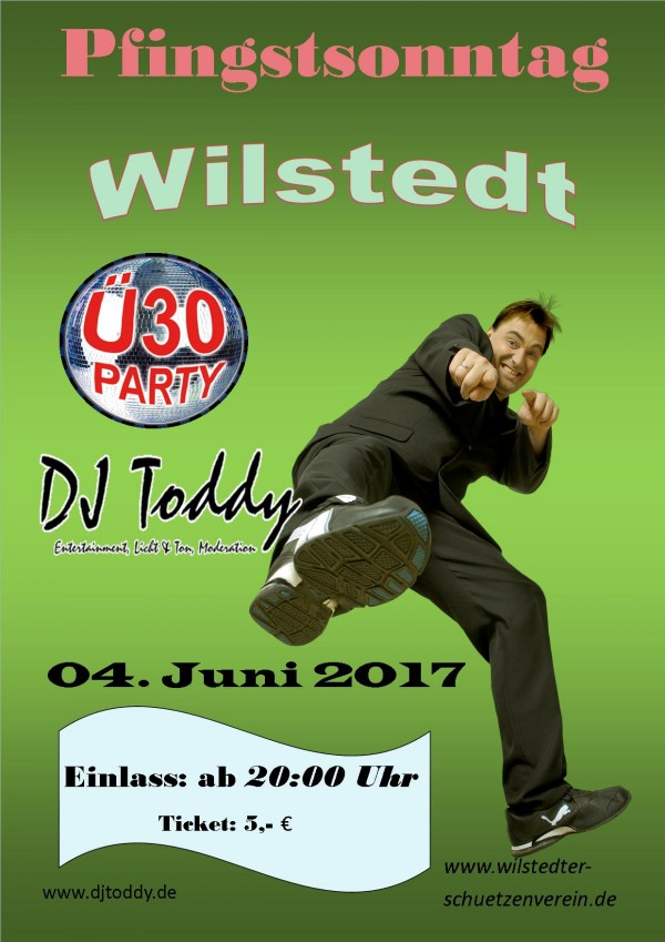 Flyer von der Ü30 Party 2017